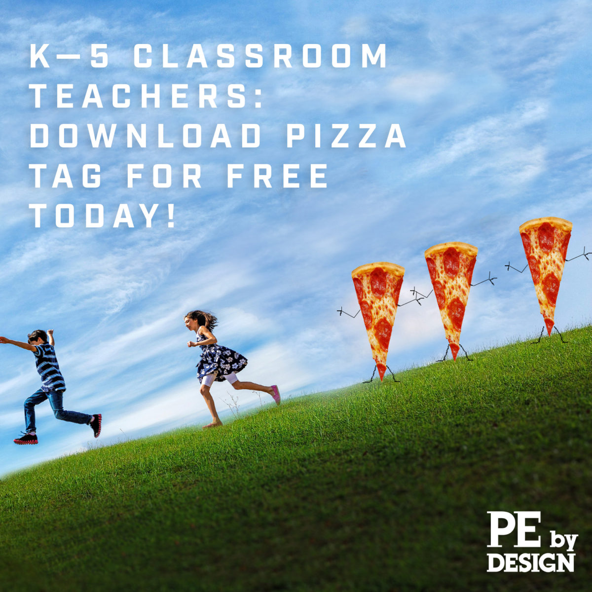 Pizza Tag:  Available for Free Download, for K–5 Classroom Teachers!